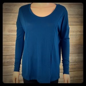 NWT Chaser Teal Boxy Dolman Knit Pullover